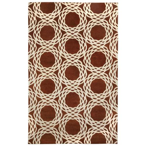 Oxford Rust Ivory - Rectangle - 5' x 8'