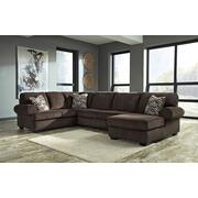 Jinllingsly - Chocolate 3 Piece Sectional Product Image