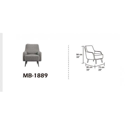 VIG Furniture - Divani Casa Corydon Modern Herringbone Fabric Accent Chair