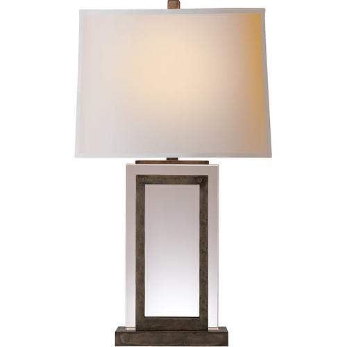 Visual Comfort - E. F. Chapman Crystal Panel 30 inch 150.00 watt Sheffield Nickel Decorative Table Lamp Portable Light