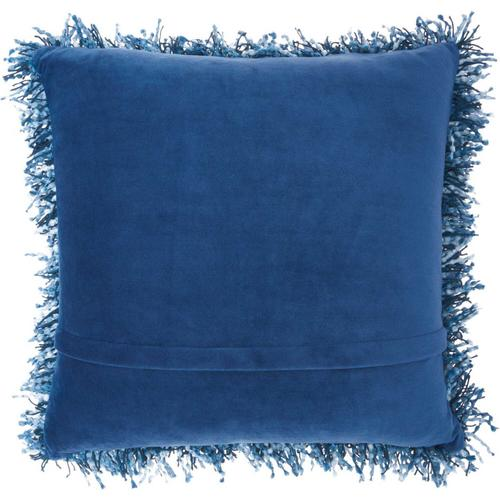"Shag Tl050 Navy 20"" X 20"" Throw Pillow"