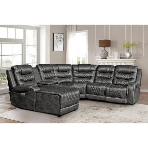 Gallery - 6-Piece Modular Power Reclining Sectional with Left Chaise