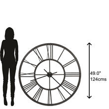 Howard Miller Jemma Iron Oversized Wall Clock 625684