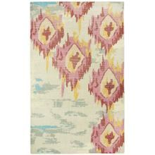 Vintage-Sunset Pink Grey Hand Knotted Rugs