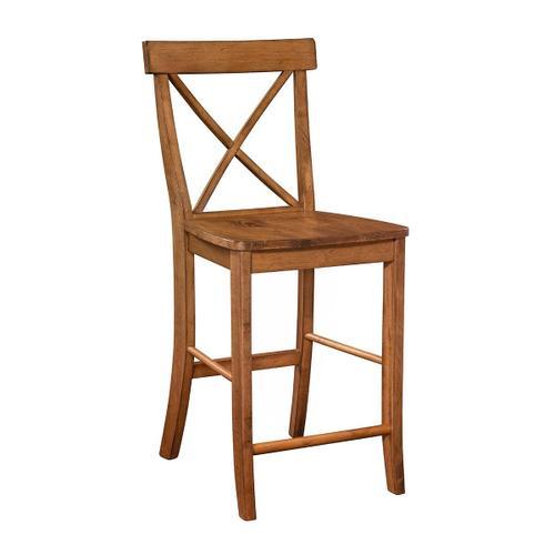 John Thomas Furniture - X-Back Stool in Bourbon Oak