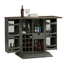 See Details - Bar Cabinet - Slate Gray Finish