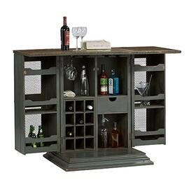 Bar Cabinet - Slate Gray Finish