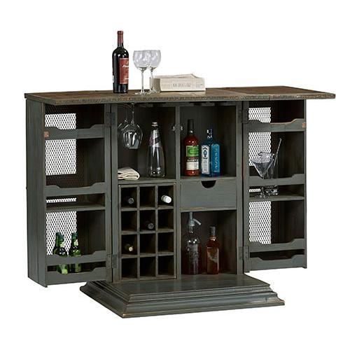 Bar Cabinet - Slate Gray Finish