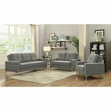 ACME Dorian Adjustable Loveseat - 52811 - Gray Linen