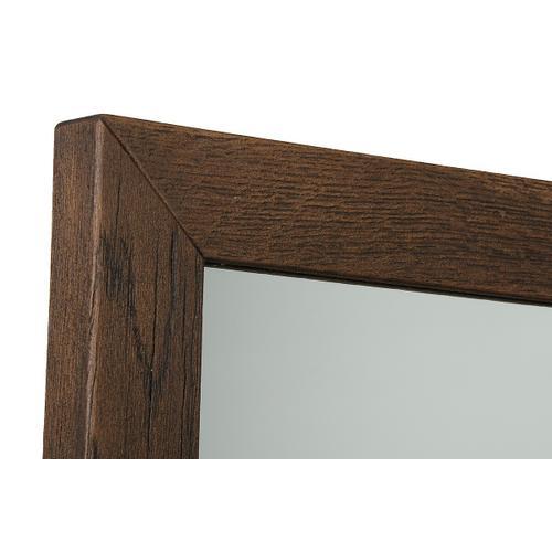 VIG Furniture - Modrest Selma Modern Dark Aged Oak Mirror