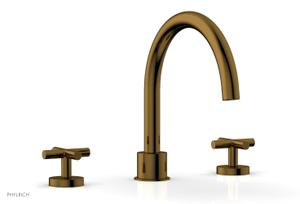 TRANSITION - Deck Tub Set - Cross Handles 120-40 - French Brass Product Image