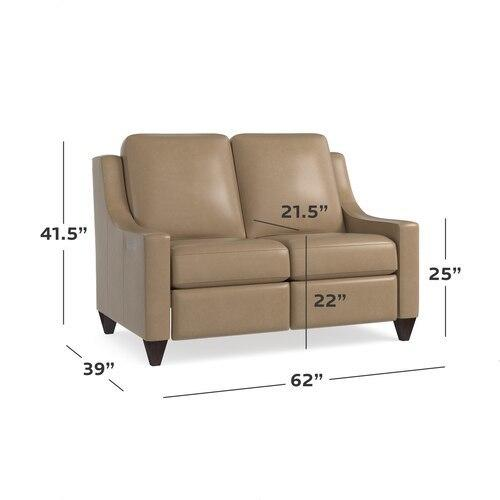 Motion Reclining Leather Loveseat