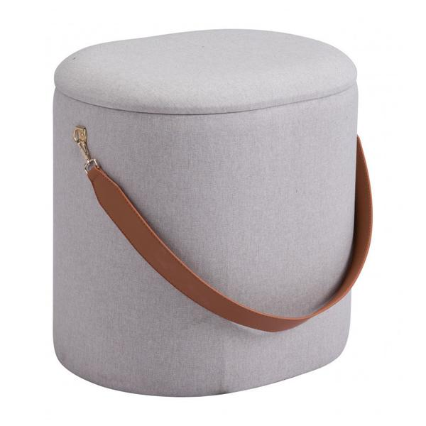 Harriet Ottoman Storage Beige