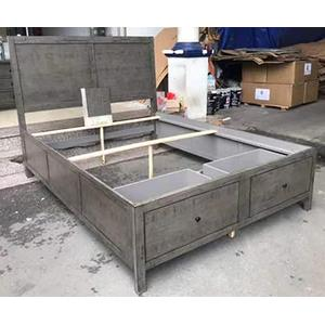 Jofran - Maxton 4 Piece King Storage Bedroom Set: Bed, Dresser, Mirror, Nightstand