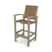 View Product - Coastal Bar Chair in Vintage Sahara / Chateau Sling