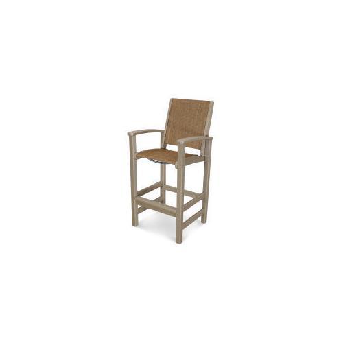 Polywood Furnishings - Coastal Bar Chair in Vintage Sahara / Chateau Sling