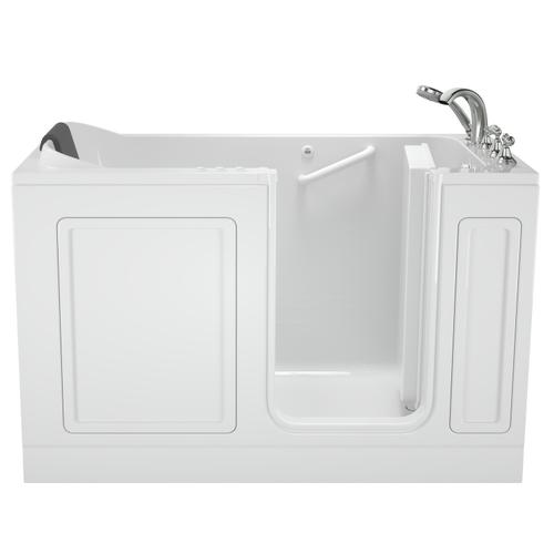 Acrylic Luxury Series 32x60 Combination Massage Walk-in Tub with Tub Filler, Right Drain  American Standard - White