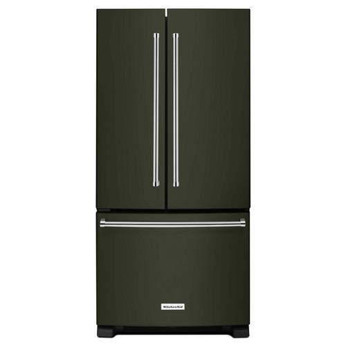KitchenAid - 22 Cu. Ft. 33-Inch Width Standard Depth French Door Refrigerator with Interior Dispenser - Black Stainless Steel with PrintShield™ Finish