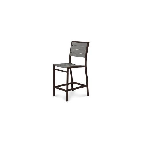 Polywood Furnishings - Eurou2122 Counter Side Chair in Textured Bronze / Slate Grey