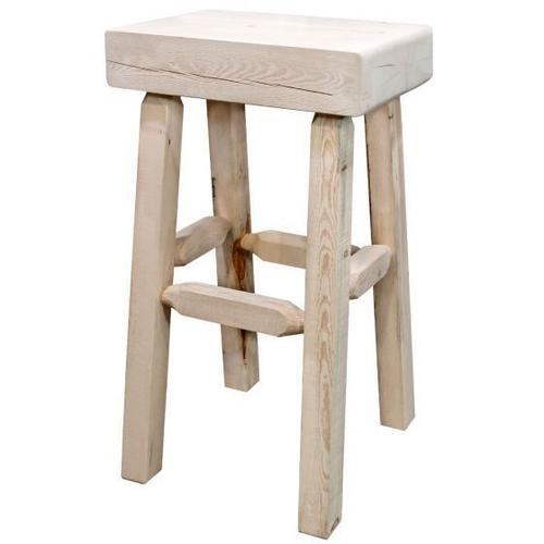 Homestead Collection Half Log Barstool
