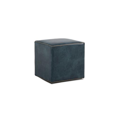Leather Cocktail Ottoman
