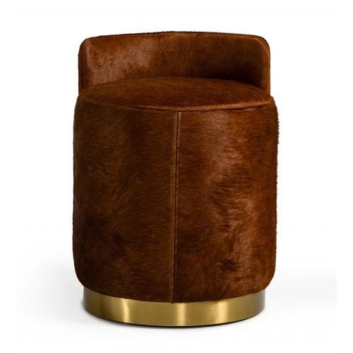 VIG Furniture - Modrest Belvista - Modern Brown Cowhide Ottoman