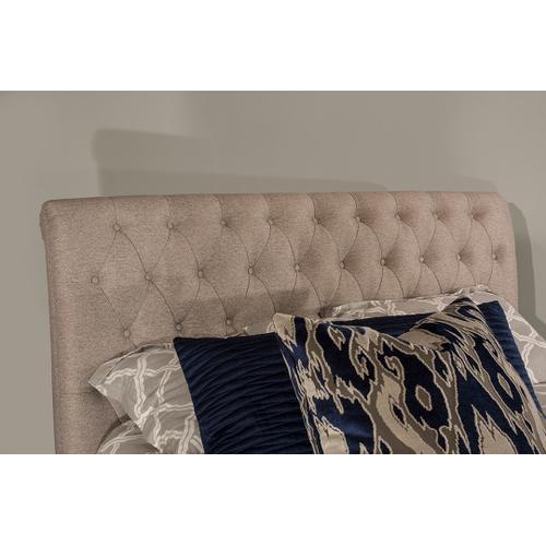 Napleton King Bed - Natural Herringbone