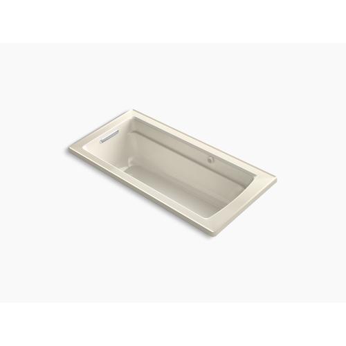 "Almond 66"" X 32"" Drop-in Heated Bubblemassage Air Bath"