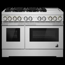 "48"" RISE™ Dual-Fuel Professional-Style Range with Chrome-Infused Griddle"
