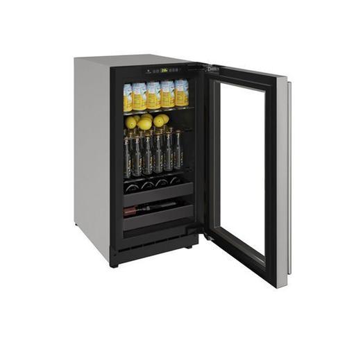 "U-Line - 2218bev 18"" Beverage Center With Stainless Frame Finish and Field Reversible Door Swing (115 V/60 Hz Volts /60 Hz Hz)"