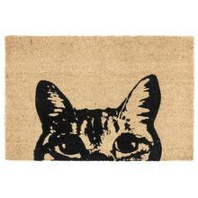 See Details - Doormat Curious Cat Black 24x36