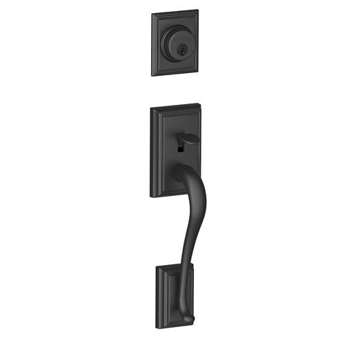 Addison In-active Handleset and Georgian Knob - Matte Black