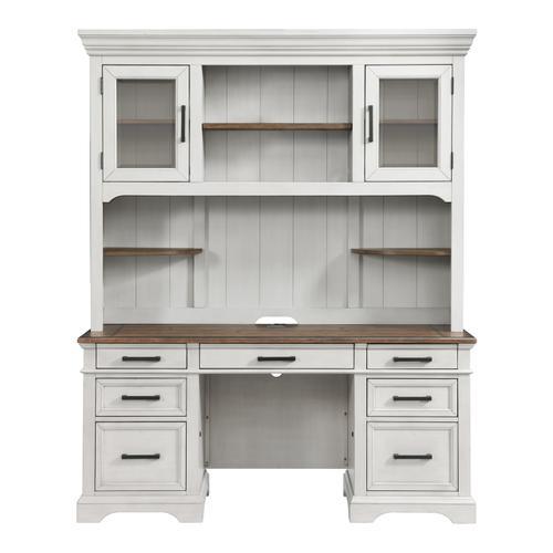 Intercon Furniture - Drake Credenza Hutch