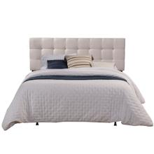 View Product - Delaney Full/queen Upholstered Headboard With Frame, Fog