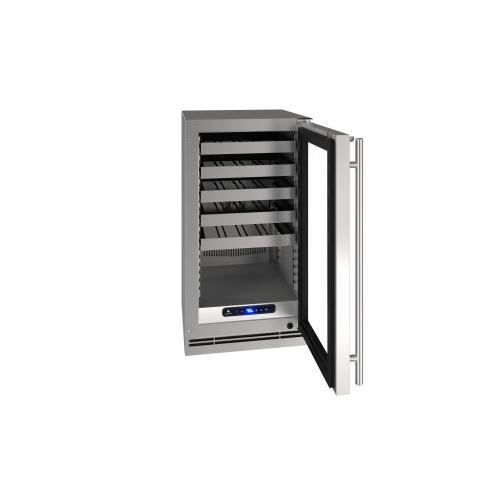 "18"" Wine Refrigerator With Stainless Solid Finish (115 V/ 60 Hz Volts / 60 Hz Hz)"