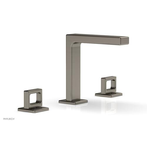 """MIX Widespread Faucet - Ring Handles 6-3/4"""" Height 290-03 - Pewter"""
