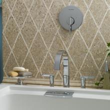 Berwick Deck-Mount Bathtub Faucet with Lever Handles - Brushed Nickel
