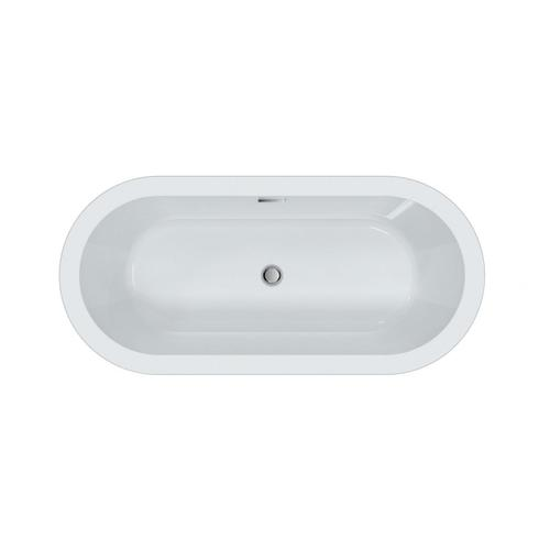 """Opus 59"""" Acrylic Tub with Integrated Drain and Overflow - Polished Chrome Drain and Overflow"""
