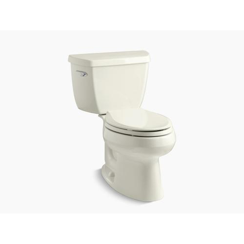 Biscuit Two-piece Elongated 1.28 Gpf Toilet