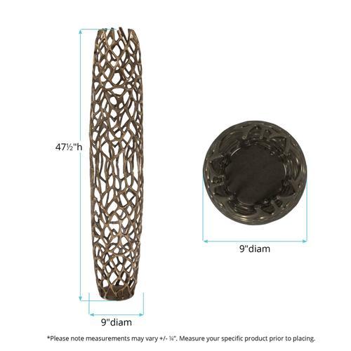 Howard Elliott - Bronze Aluminum Branch Vase, Large