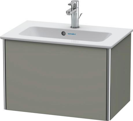 Vanity Unit Wall-mounted Compact, Stone Gray Satin Matte (lacquer)