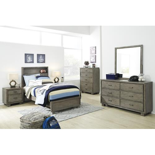 Arnett - Gray 2 Piece Bed (Twin)