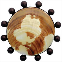 Beaded Round with Natural Shell