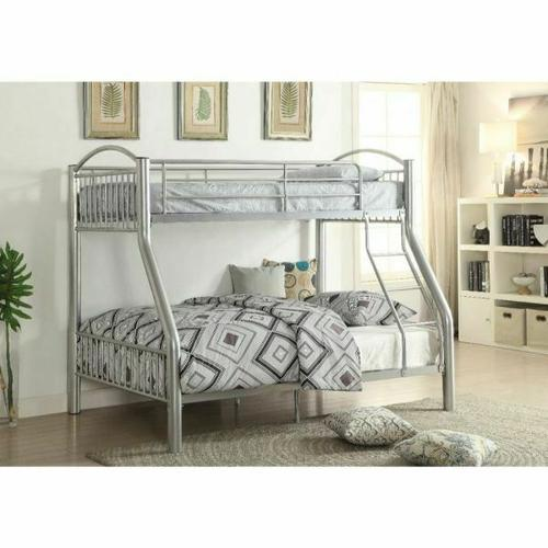 ACME Cayelynn Twin/Full Bunk Bed - 37380SI - Silver