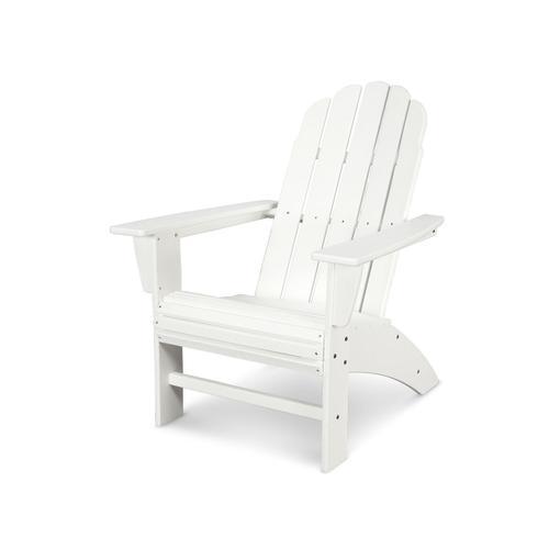 White Vineyard Curveback Adirondack Chair