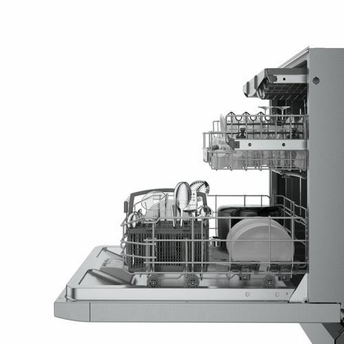 Bosch - 800 Series Dishwasher 24'' stainless steel SGE78B55UC