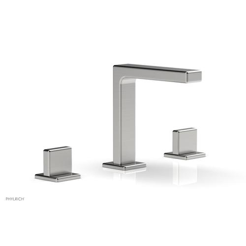 """MIX Widespread Faucet - Blade Handle 6-3/4"""" Height 290-01 - Satin Chrome"""