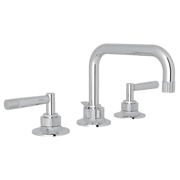 Polished Chrome Graceline U-Spout Widespread Lavatory Faucet with Metal Lever Graceline Series Only