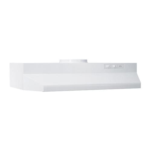 30-Inch Under Cabinet Range Hood with Light in White with EZ1 installation system
