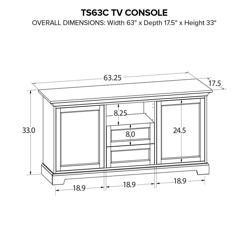 TS63C Custom TV Console